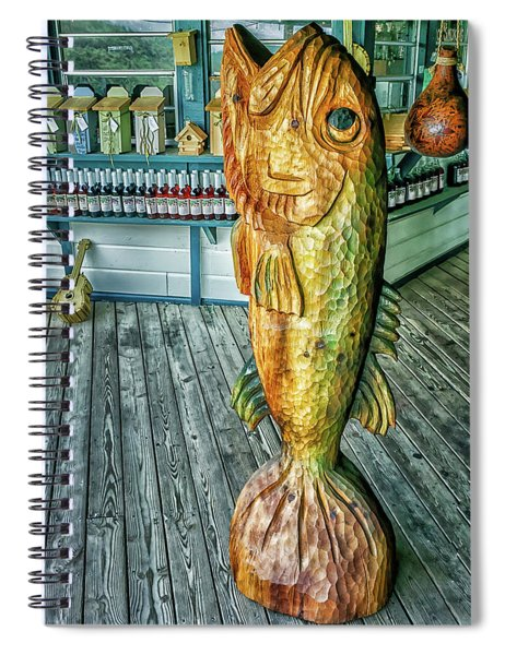Rustic Fish Spiral Notebook