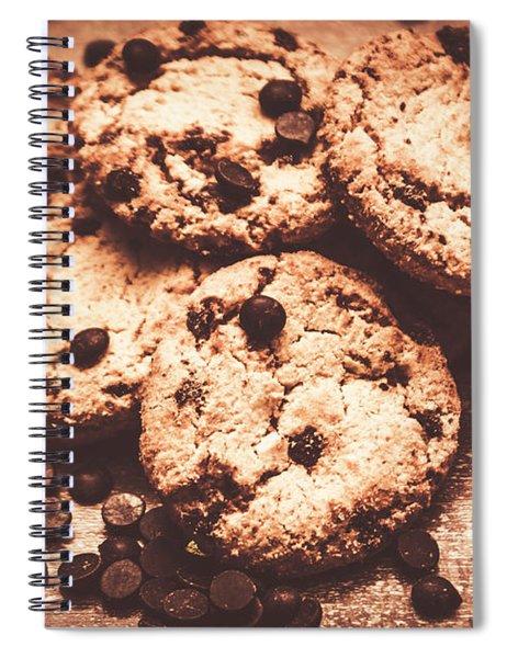 Rustic Kitchen Cookie Art Spiral Notebook
