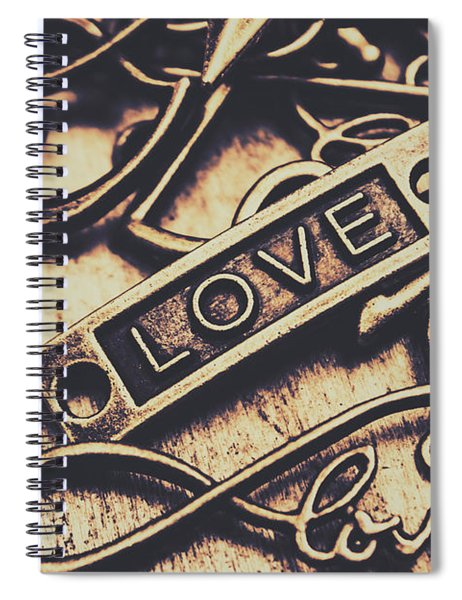 Rustic Love Icons Spiral Notebook