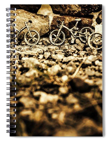 Rustic Mountain Bikes Spiral Notebook