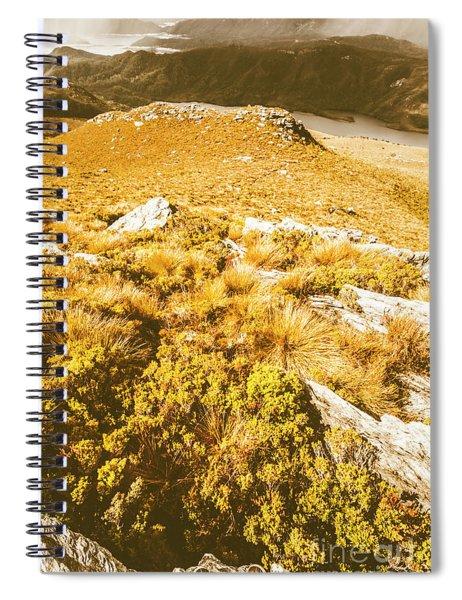 Rustic Mountain Terrain Spiral Notebook
