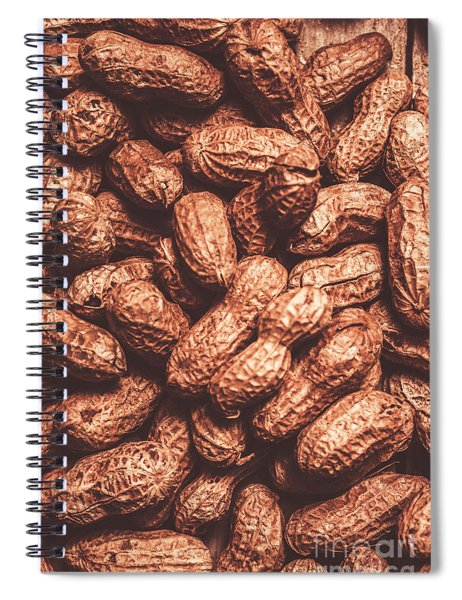 Rustic Nuts Background  Spiral Notebook