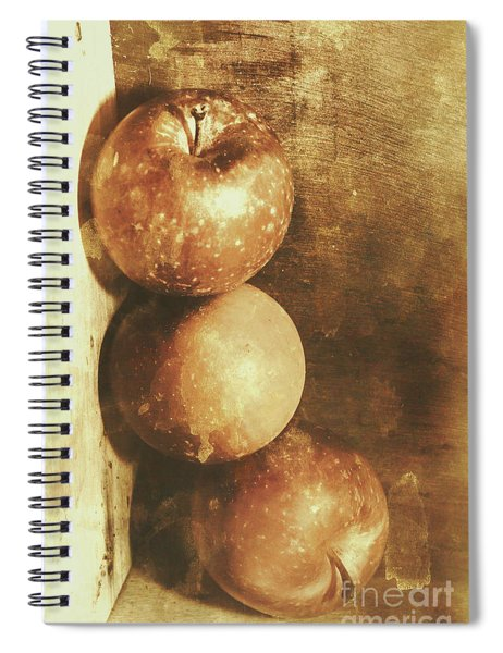 Rustic Old Apple Box Spiral Notebook