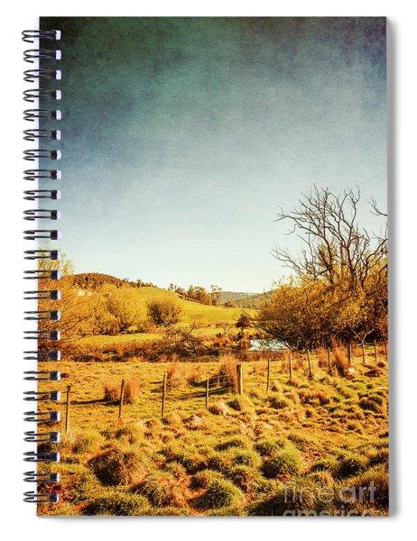 Rustic Pastoral Australia Spiral Notebook