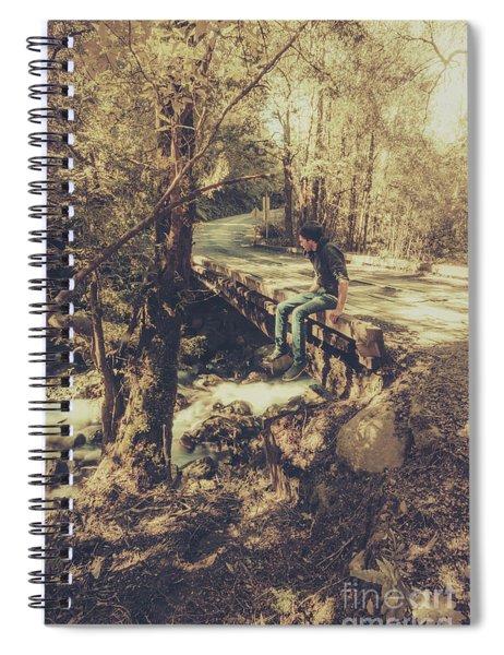 Rustic Rural Retreat Spiral Notebook