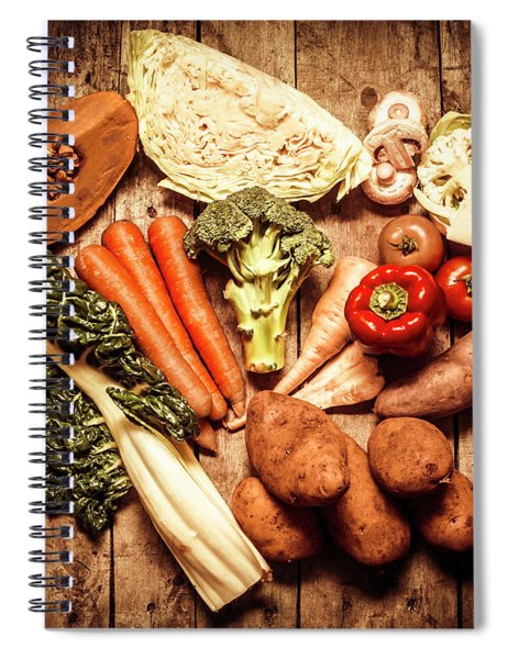 Rustic Style Country Vegetables Spiral Notebook