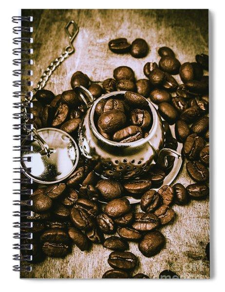 Rustic Teapot Art Spiral Notebook