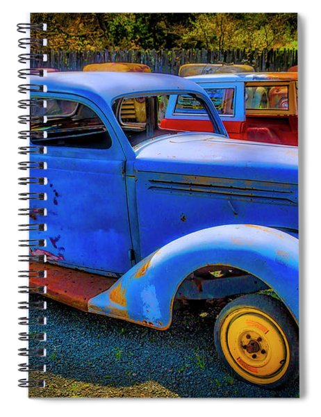Rusting Blue Car Spiral Notebook