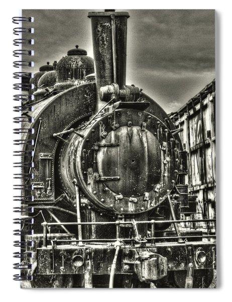 Rusting Locomotive Spiral Notebook