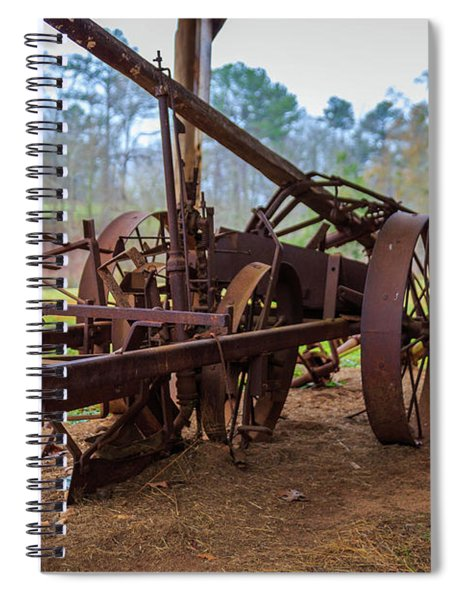 Spiral Notebook featuring the photograph Rusty Farming by Doug Camara
