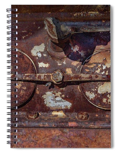Rusty Gears Spiral Notebook