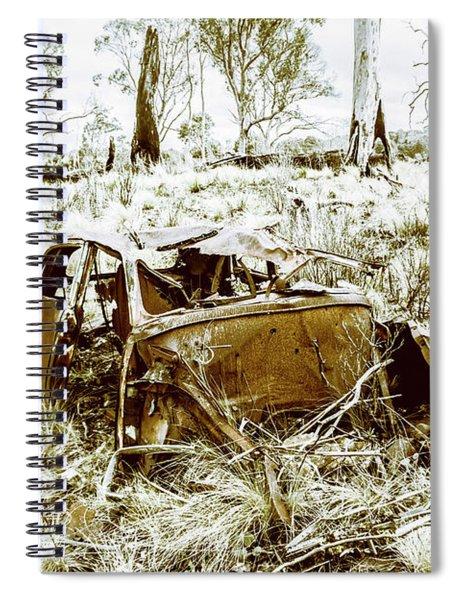 Rusty Old Holden Car Wreck  Spiral Notebook