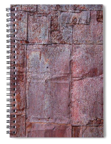 Rusty Patchwork Spiral Notebook
