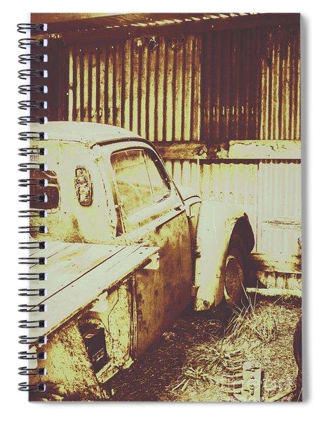 Rusty Pickup Garage Spiral Notebook