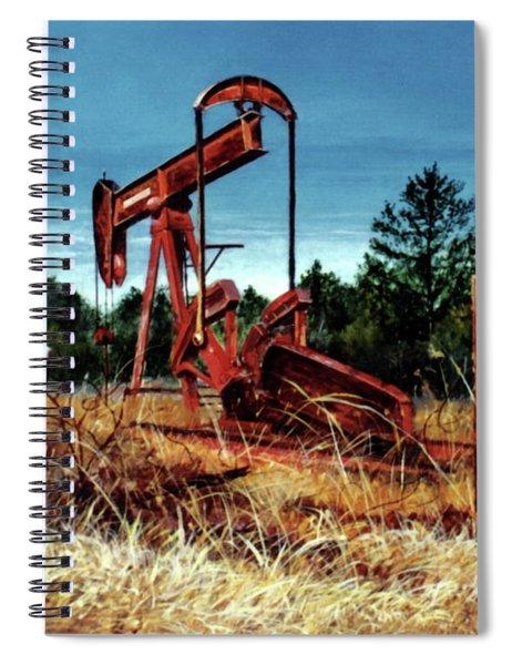 Rusty Pump Jack Spiral Notebook
