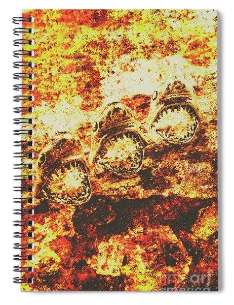 Rusty Shark Scene Spiral Notebook