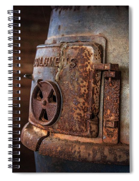 Spiral Notebook featuring the photograph Rusty Stove by Doug Camara