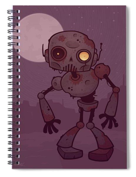 Rusty Zombie Robot Spiral Notebook