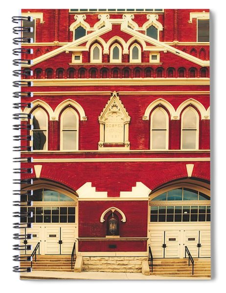 Ryman Auditorium -the Home Of Country Music Spiral Notebook