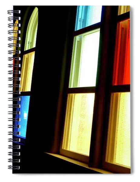 Ryman Stained Glass  Spiral Notebook