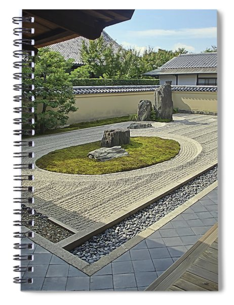 Ryogen-in Zen Rock Garden - Kyoto Japan Spiral Notebook