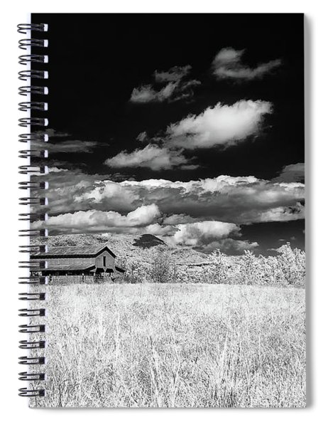 S C Upstate Barn Bw Spiral Notebook