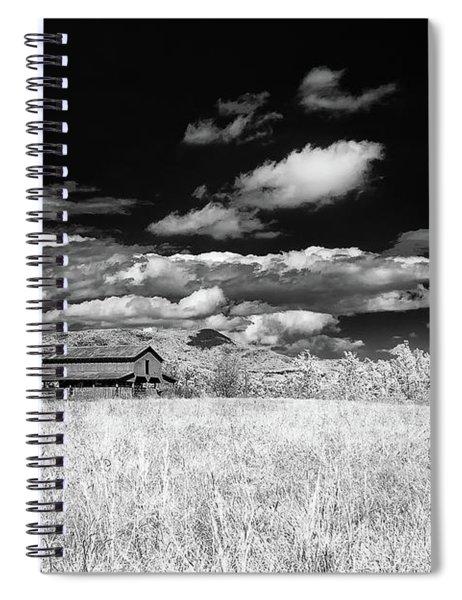 S C Upstate Barn Bw Spiral Notebook