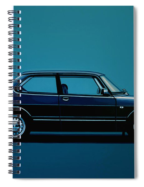 Saab 90 1985 Painting Spiral Notebook