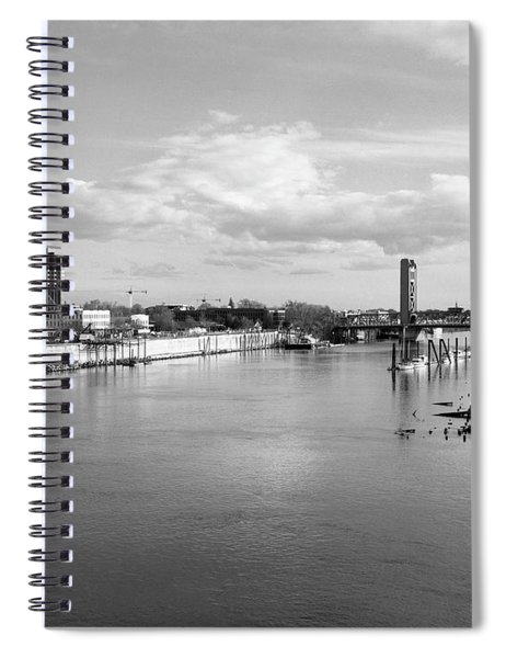 Sacramento River And Tower Bridge 1985 Spiral Notebook