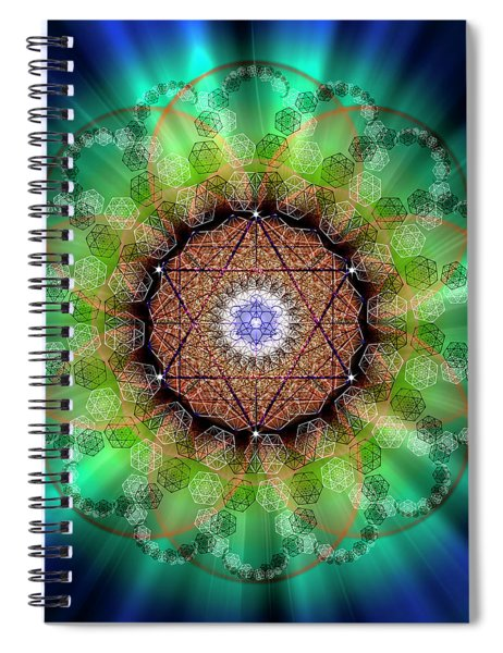 Sacred Geometry 685 Spiral Notebook