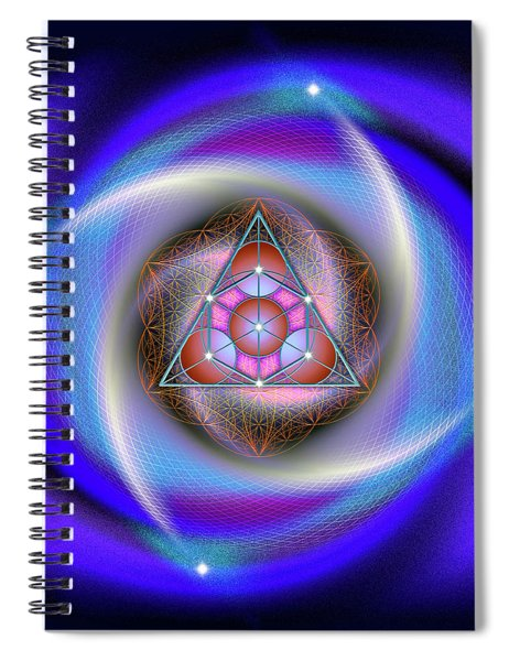 Sacred Geometry 687 Spiral Notebook