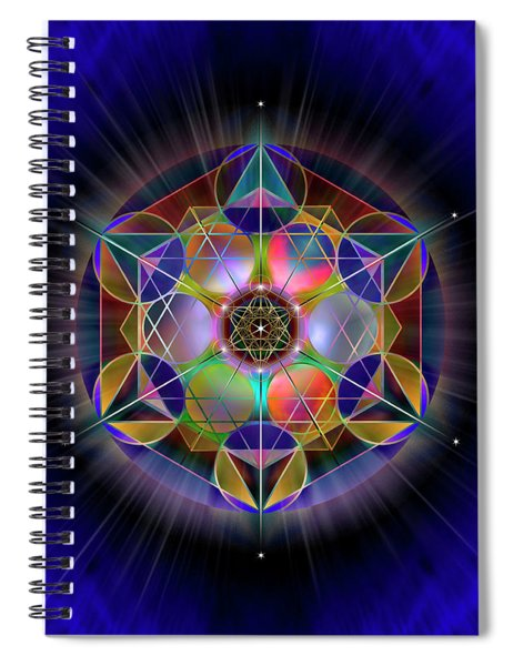 Sacred Geometry 690 Spiral Notebook