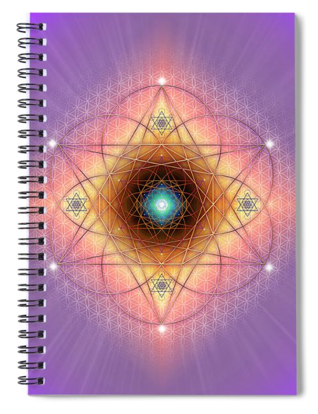 Sacred Geometry 691 Spiral Notebook