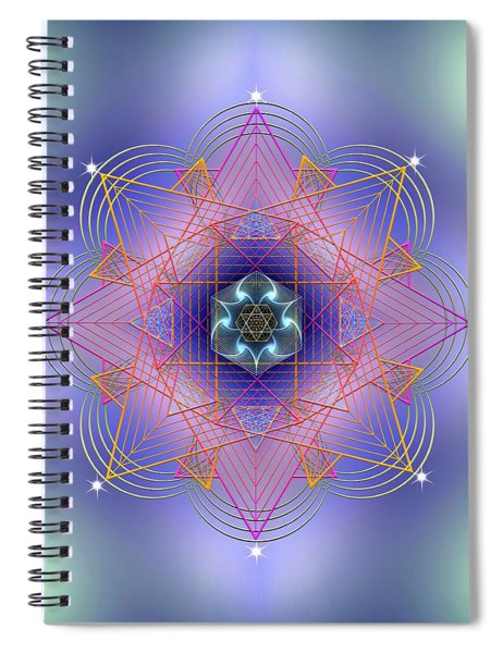 Sacred Geometry 693 Spiral Notebook