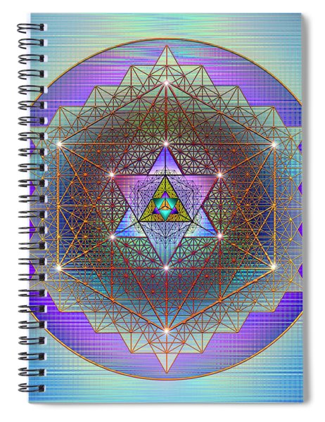 Sacred Geometry 695 Spiral Notebook