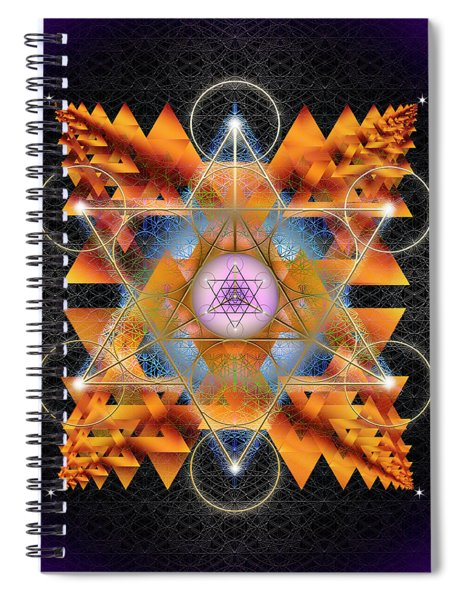 Sacred Geometry 701 Spiral Notebook