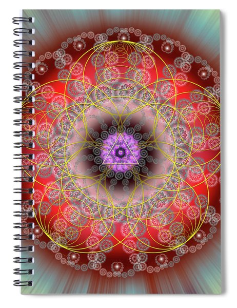 Sacred Geometry 702 Spiral Notebook