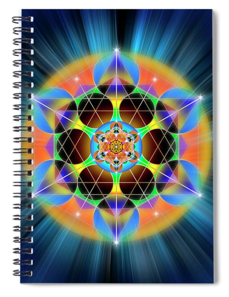Sacred Geometry 709 Spiral Notebook