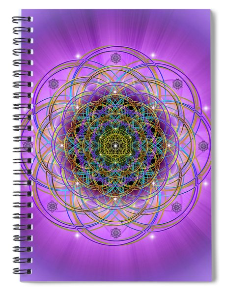 Sacred Geometry 715 Spiral Notebook
