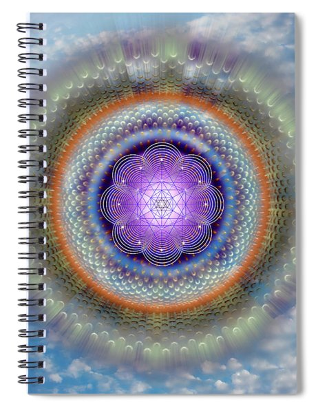 Sacred Geometry 716 Spiral Notebook