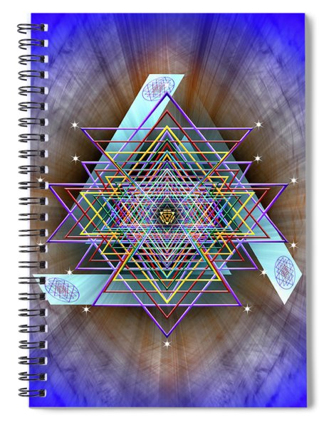 Sacred Geometry 717 Spiral Notebook