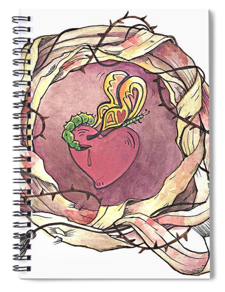 Sacred Heart And Crown Of Thorns - Mmhct Spiral Notebook