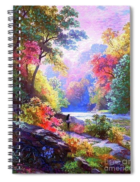Sacred Landscape Meditation Spiral Notebook
