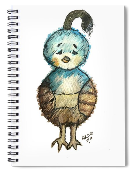 Baby Quail Spiral Notebook