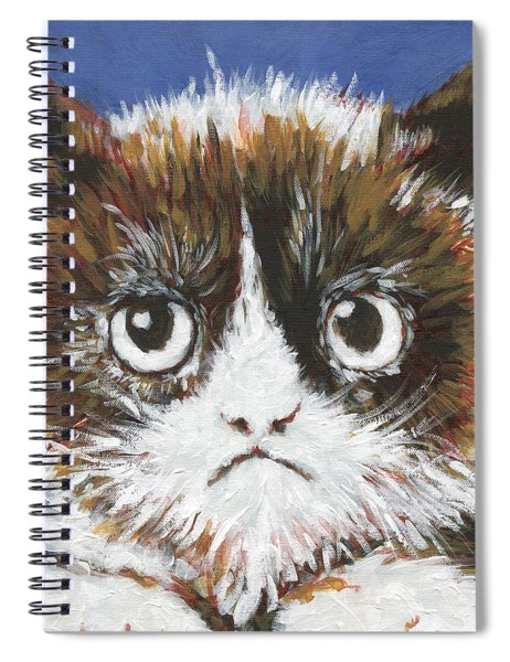 Sad Cat Spiral Notebook