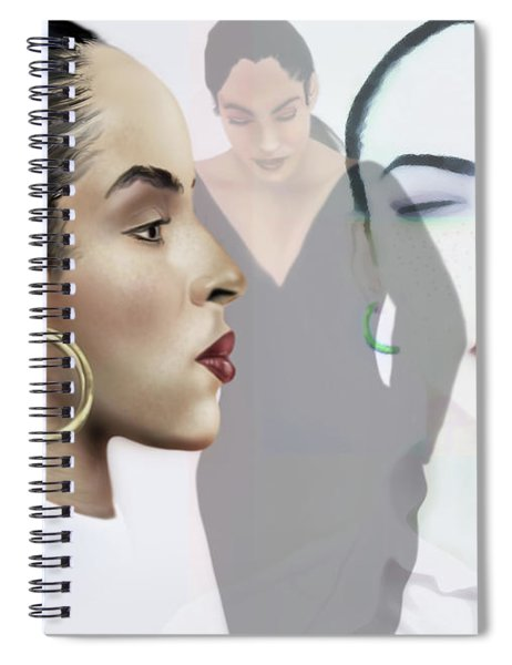 Sade In Layers  Spiral Notebook