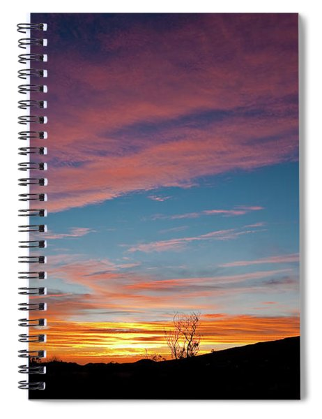 Saddle Road Sunset Spiral Notebook