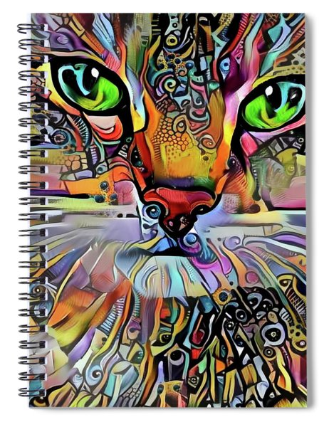 Sadie The Colorful Abstract Cat Spiral Notebook