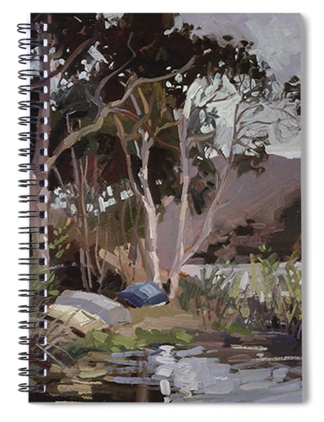 Safe Shelter  - Plein Air - Catalina Island Spiral Notebook