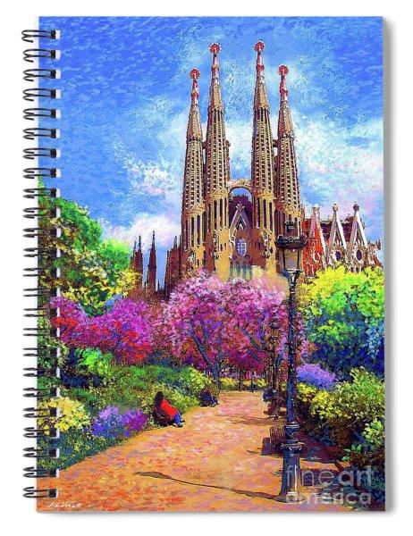 Sagrada Familia And Park Barcelona Spiral Notebook